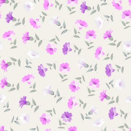 colo: Vintage seamless floral pattern over colo background. Vector illustration.
