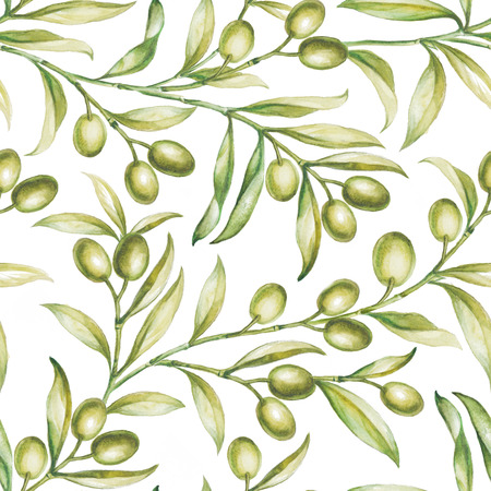 Seamless olive bunch fabric pattern.