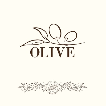 extra virgin olive oil: Olive label design.