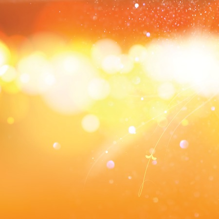 Abstract  orange bokeh background. illustration illustration