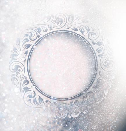 bodas de plata: Congele ornamento más chispas de nieve.