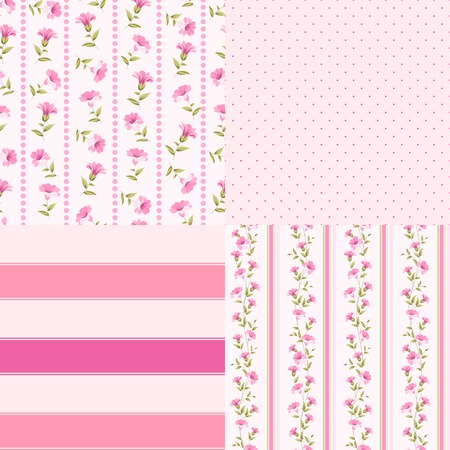 bunch of flowers: Awesome vintage template set of color flowers. Vector illustration.