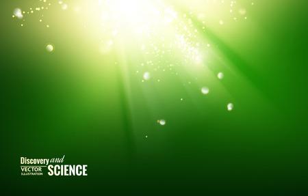 Wetenschap kleur achtergrond met vonken en gloed.
