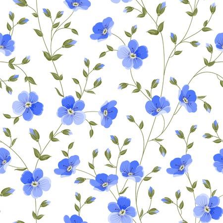 Field flowers wallpaper over white background. Vector illustration. Vector