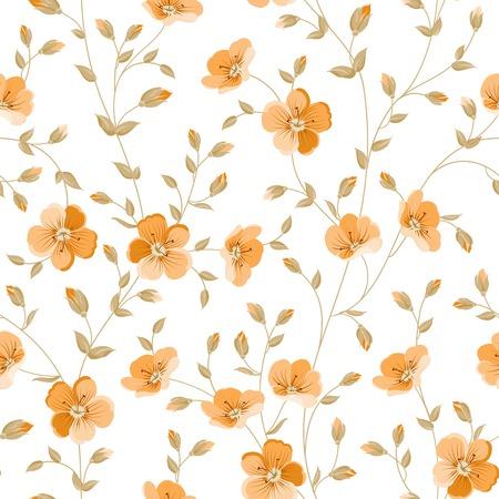 rosas naranjas: Wallapaper peonía de lujo en estilo wintage. Ilustración del vector. Vectores