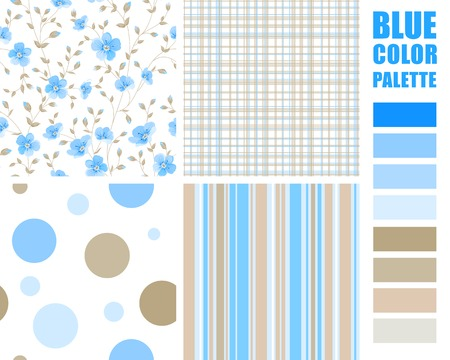 swatches: Fabric texture palette with complimentary swatches. Vector illustration.