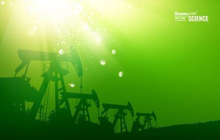 granules: Oil pump color background with sparks and glow.