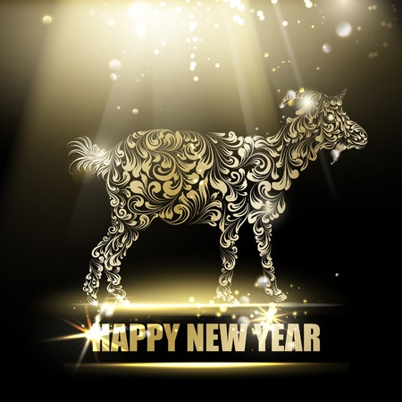 The goat - a new year symbol of 2015. Vector