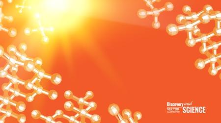 molecula de agua: Imagen del concepto Ciencia de ADN. Ilustración del vector. Vectores