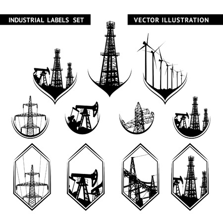 lable: Industrial Lable Set of isolated lables. Vector illustration. Illustration
