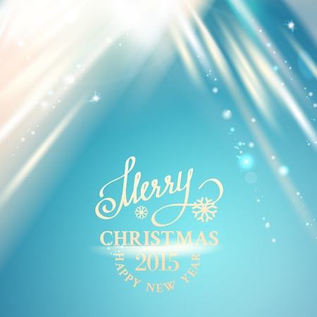 granules: Merry Christmas Card and Happy New Year 2015. Vector illustration. Illustration