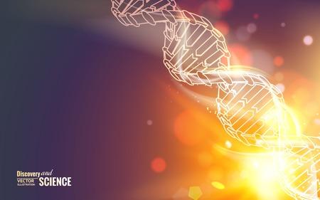Scince illustration of a DNA molecule. Vector illustration. Illustration