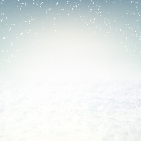 Snow environment background with sky and snow. Vector illustration. Illustration