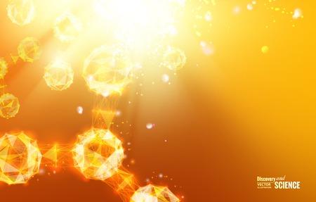 atomo: Fondo geométrico abstracto. Plantilla para el cartel, tarjeta, folleto o cartel con un gradiente de triángulos. Vectores