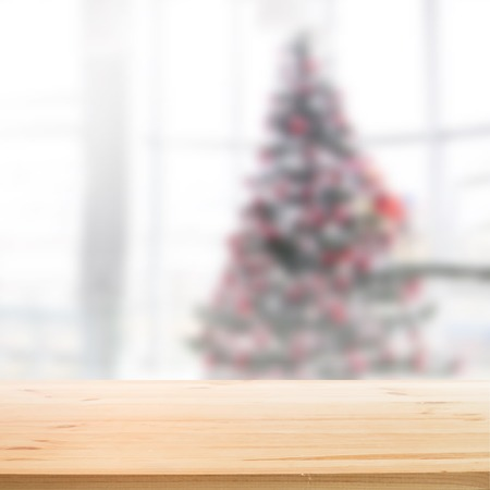 wood planks: Christmas holiday background with wooden table for your design. Vector illustration. Illustration