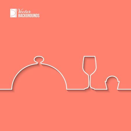 logotipos de restaurantes: Alimentos logo diseño gráfico en círculo. Ilustración del vector.