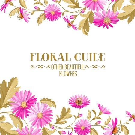 chik: Flower background with violet flowers for yor wedding design in provence style. Vector illustration. Illustration
