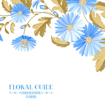 chik: Flower background with violet flowers for yor wedding design in provence style. Vector illustration. Illustration