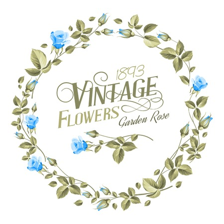 chik: Vintage Flowers print over white texture. Vector illustration.