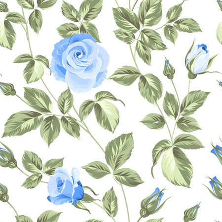 blue rose: Flower background of red fashion rose for your seamless pattern. Vector illustration.