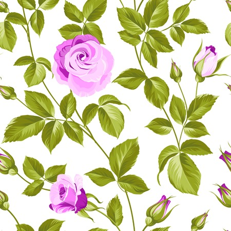 liberty: Flower background of red fashion rose for your seamless pattern. Vector illustration.