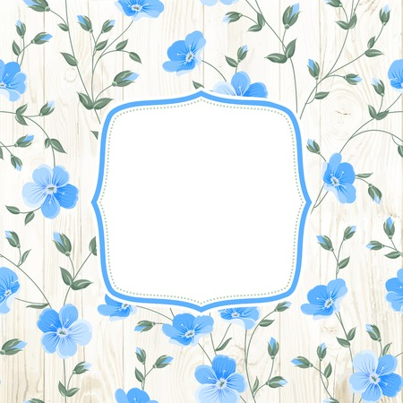 flax: Invitation background template for your design. Vector illustration.