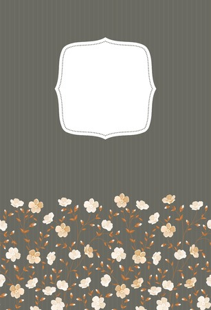 chik: Invitation gray background template for your design. Vector illustration.