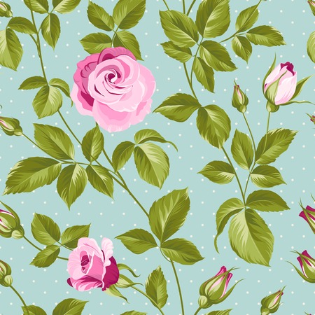 nature wallpaper: Roses flower background of red fashion rose for your design. Vector illustration.