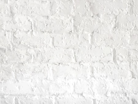 white brick wall: White grunge brick wall background. Vector illustration. Illustration