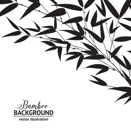 palmetto: Bamboo ink drawing isolated over white background. Vector illustration