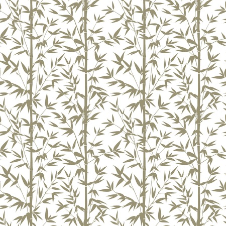vectro: Bamboo gray seamless pattern isolated on white background. Vectro illustration.