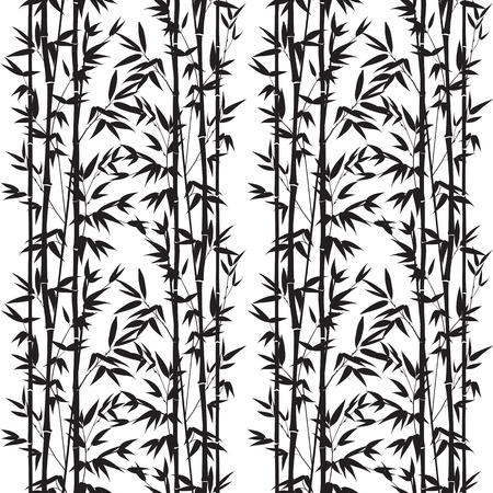 대나무 원활한 패턴 흰색 배경에 고립입니다. 벡터 일러스트 레이 션.