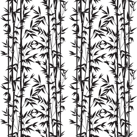 Bamboo seamless pattern isolated on white background. Vectro illustration.