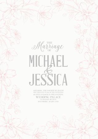 Dos Variantes De Tarjetas De Invitación De Matrimonio Para