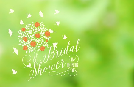 chik: Marriage card with invitation sign isolated over green background. Vector illustration.