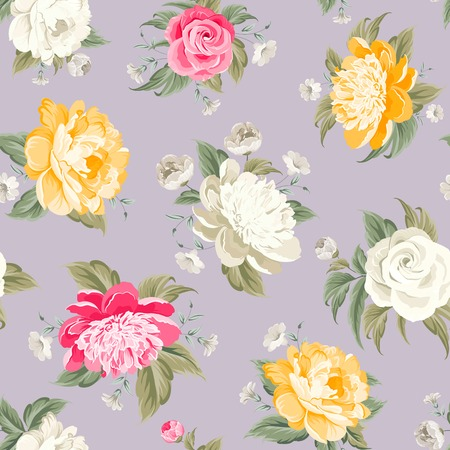 fabric samples: Elegant seamless pony pattern on gray background. Vector illustration. Illustration