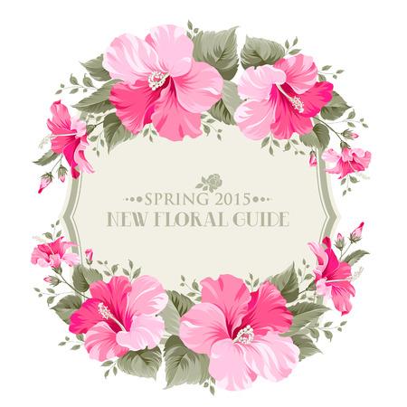 romantique: Mariage carton d'invitation avec le texte de holyday Heureux et fleurs romantiques. Vector illustration.