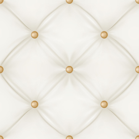 White leather upholstery background for a luxury decoration. Seamless pattern. Vector illustration. Vector