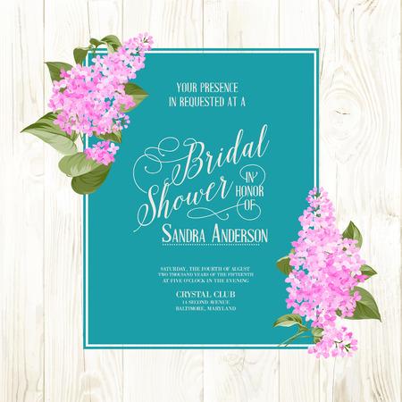 Bridal background pioggia di fiori siringa. Illustrazione vettoriale