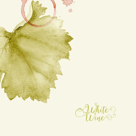 wine list: Concept design for a wine list. Vector llustration.