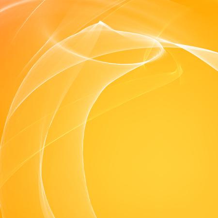 transparencies: Orange smooth light lines background. Vector illustration, eps 10, contains transparencies. Illustration
