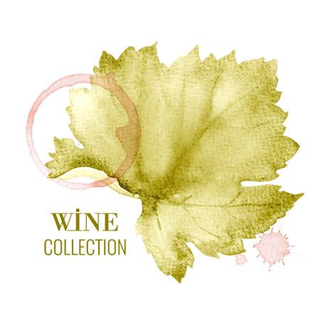 vineyard: Concept design for a wine list. Vector llustration.