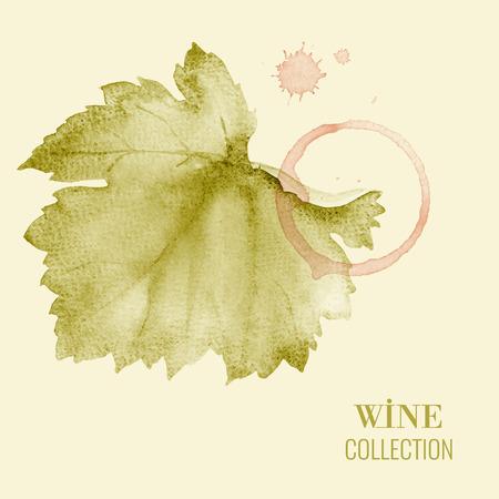 wine vineyards: Concept design for a wine list. Vector llustration.