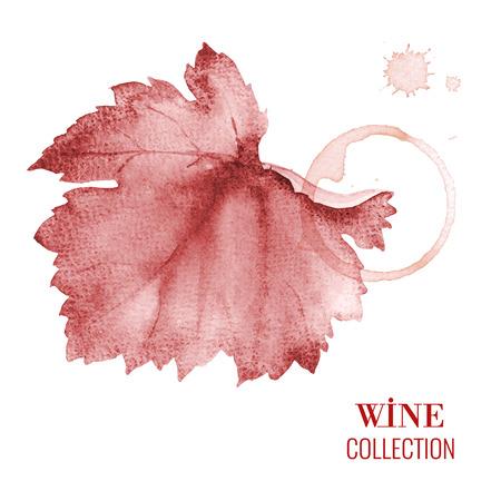 tomando vino: Dise�o de concepto de una carta de vinos. Vector llustration. Vectores