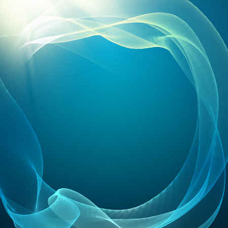 smooth background: Blue smooth light lines background. Vector illustration.