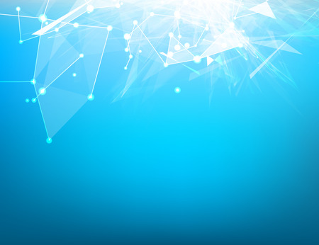 Abstract blue light background for science design. Vector illustration. Vector