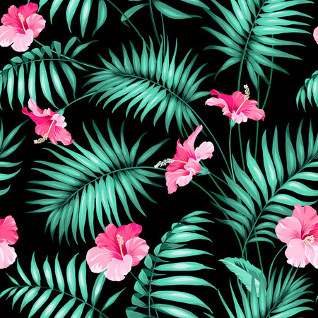 Tropical flowers and jungle.