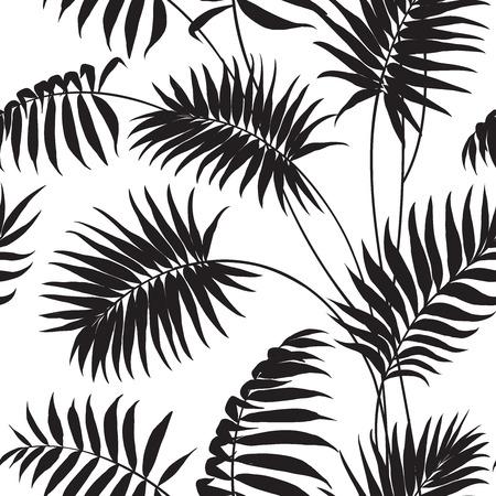 palmier: Tropical background des palmiers et des hibiscus.