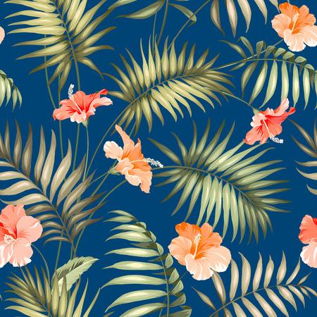 hibisco: La rama de un árbol de palma. Vectores