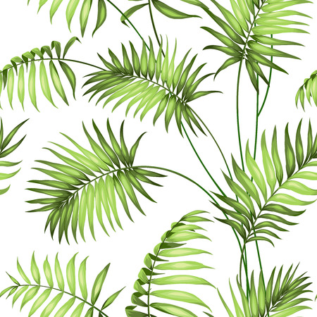 Tropical seamless pattern. Vector illustration.